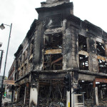 Fire damage after Tottenham Riots